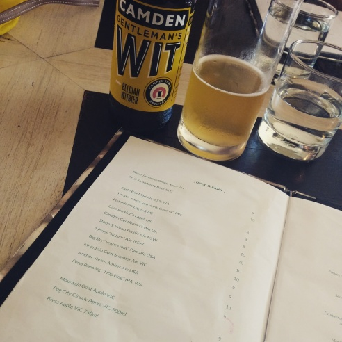 The Standard - Beer Menu - Jan 2015