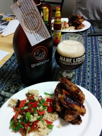 Mismatch Archie's Red Ale with chicken wings