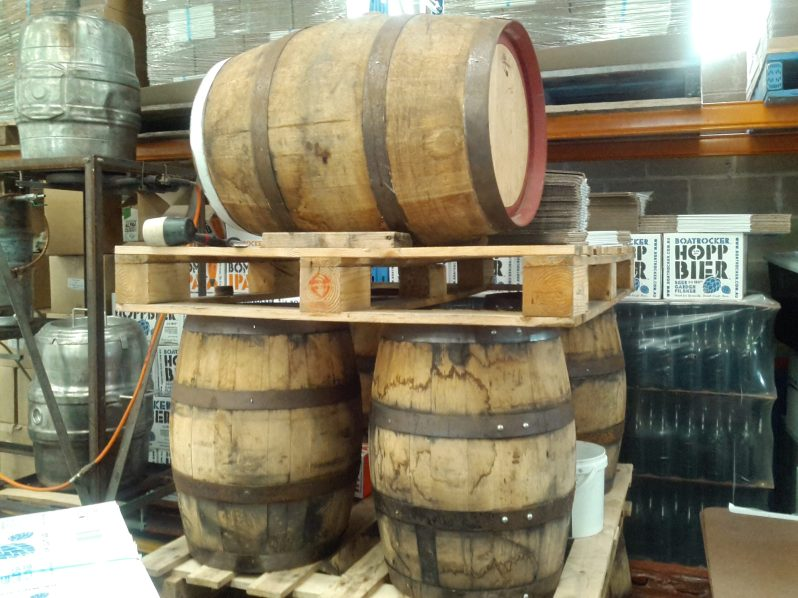 Barrels at Boatrocker Brewery