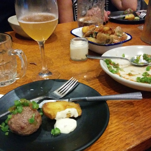 Holgate White Ale & Precinct Food