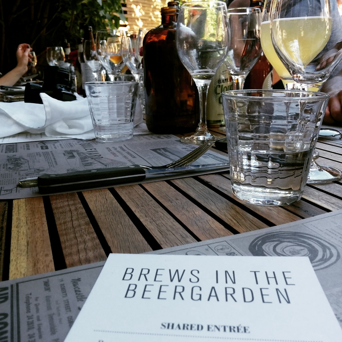 Brews in the Beer Garden (+ long table lunch) at The Blvd