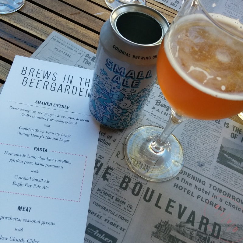 Colonial Small Ale - Brews in the Beer Garden at The Blvd