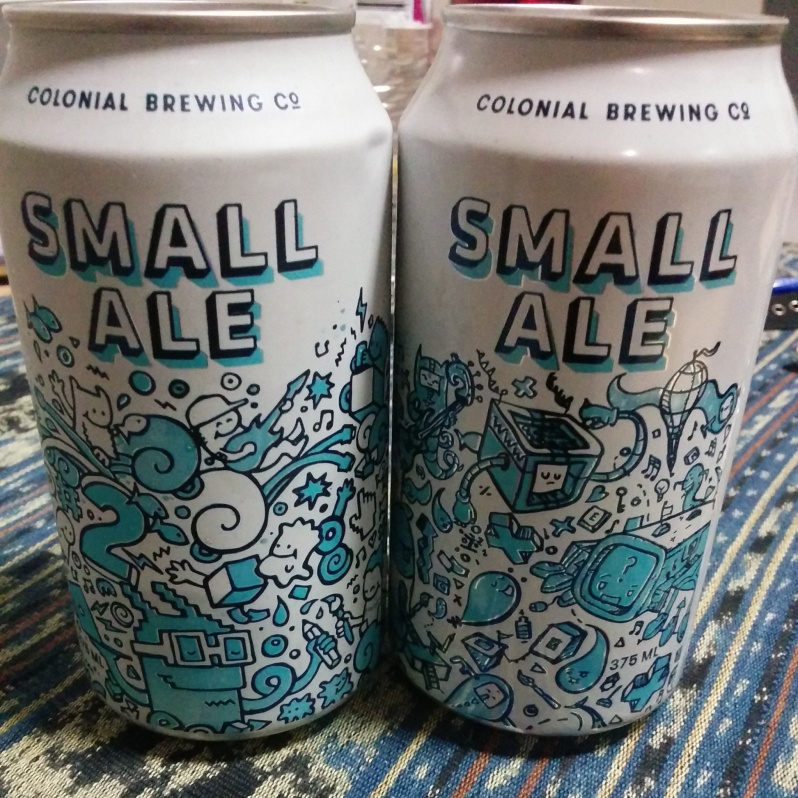 Colonial Small Ale cans