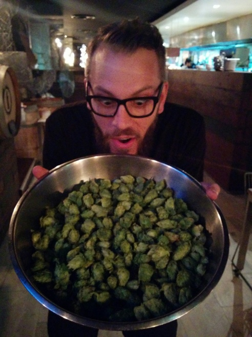 Matt Marinich at Hop Harvest Dinner