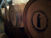 Monk Craft Brewery and Kitchen barrels
