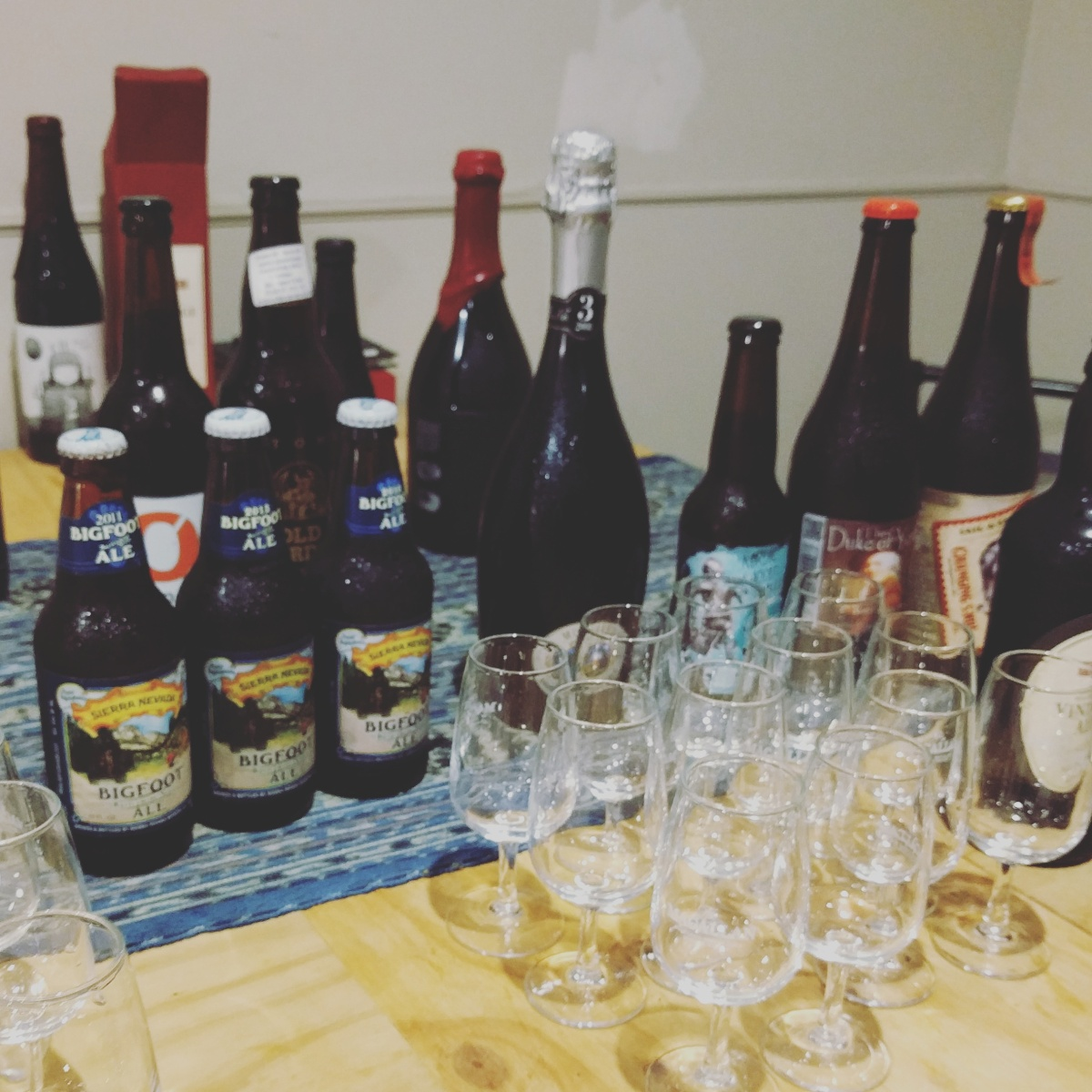 A Bottle Share of Barley Wine