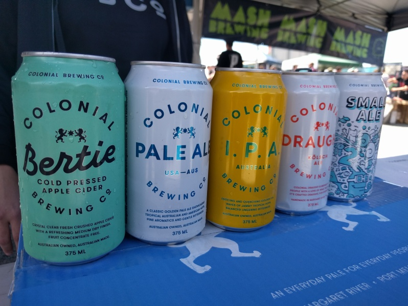Colonial Brewing cans